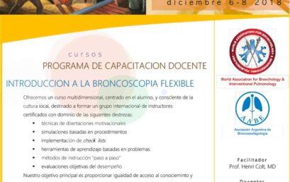 SAVE THE DATE: 08/12 CURSO DE INTRODUCCIÓN A LA BRONCOSCOPIA FLEXIBLE