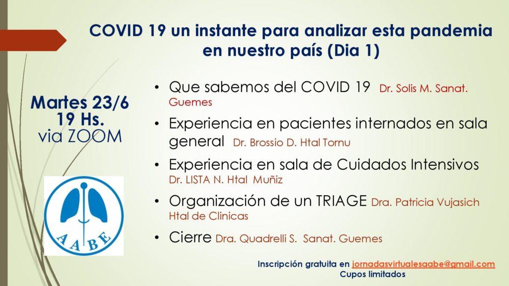 Jornada virtual: Inscripciones a jornadasvirtualesaabe@gmail.com