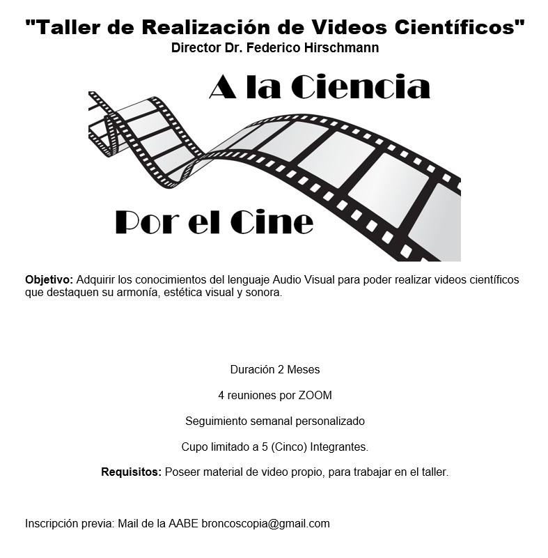Taller de realización de videos científicos